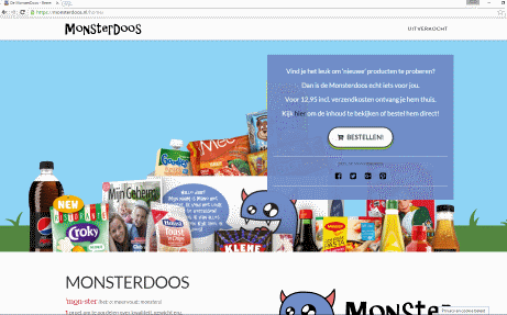 Monsterdoos website