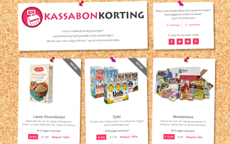 Kassabonkorting website