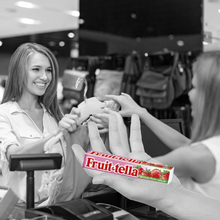 Fruitella Shoeby sampling
